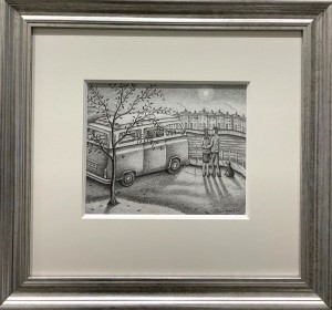 love shines down - drawing - framed