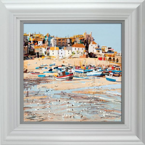 Low Tide, St Ives Bay  - Framed