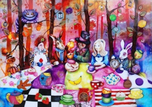 Mad Hatters Tea Party - Framed