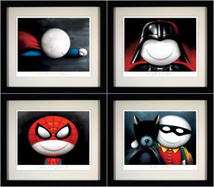 Master Of Disguise (Set Of 4)  - Framed