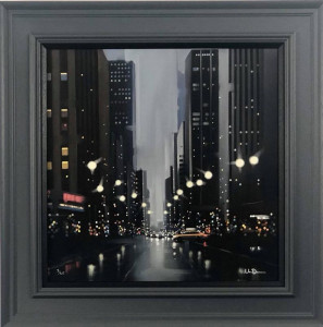 Mean Streets - Canvas - Grey - Framed