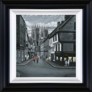 Meandering To The Minster - Deluxe Canvas - Black - Framed