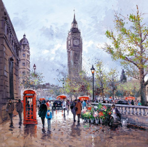 memories of london - box canvas