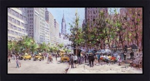 Midtown View - Framed - Framed Box Canvas