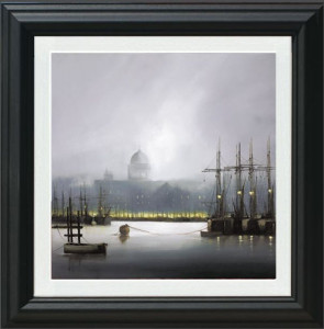 Mist On The Thames - Black - Framed