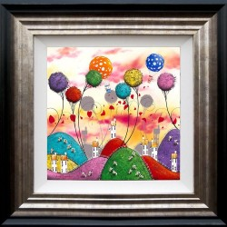 Moo Clouds - 3D High Gloss - Framed