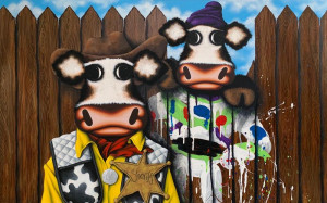 Moo Got A Friend In Me - Original - Box Canvas