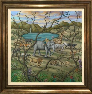 Mother Earth - Canvas - Gold Frame Style 1 - Framed