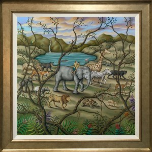 Mother Earth - Canvas - Gold Frame Style 2 - Framed