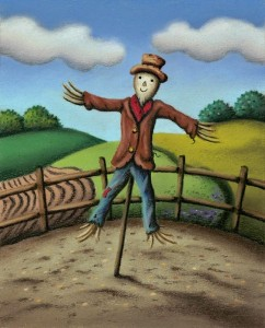 Mr. Scarecrow - Mounted