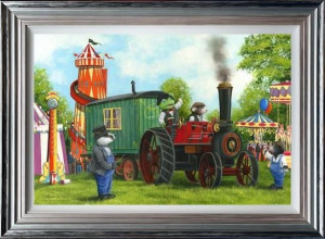 Mr Toad And Moleys Steam Adventures - Blue & Silver - Framed