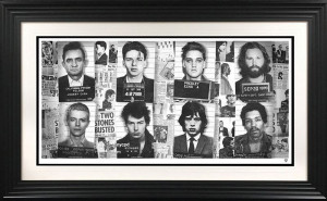 Music's Most Wanted - Artist Proof - Black - Framed