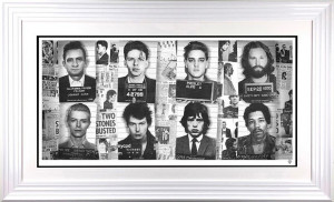 Music's Most Wanted - Artist Proof - White - Framed