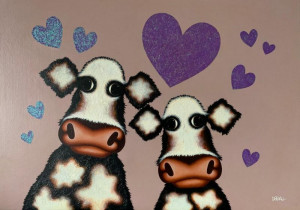 My Little Moo - Original  - Framed