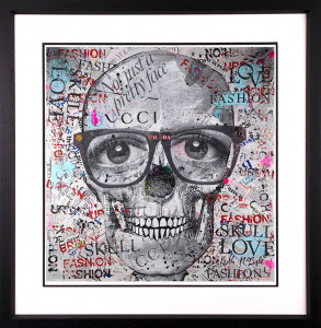 Not Just A Pretty Face - Black - Framed