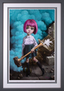 Oh, I Don't Know About Art, But I Know What I Like - Artist Proof Grey - Framed