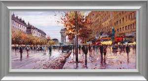 On The Champs Elysees  - Framed