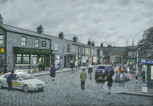 On The Cobbles - Paper - Mounted