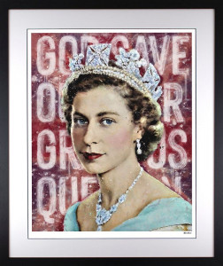 Our Gracious Queen - Black - Framed