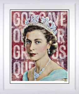 Our Gracious Queen - White - Framed