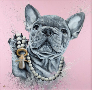 Pampered Pooch - Artist Proof - Mounted