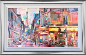 Paris Cafe - Original - Framed