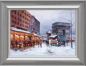 Paris In The Snow  - Framed