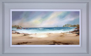 Peaceful Shores - White - Framed