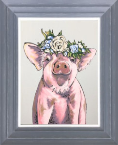Perfect Piggy - Original - Dark Grey - Framed