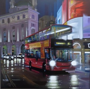 Piccadilly Bus - Original  - Framed