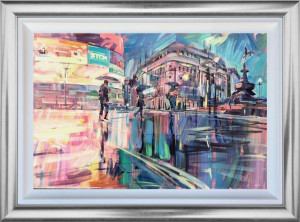 Piccadilly Reflections - Original - Framed