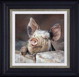 Pig Table  - Framed