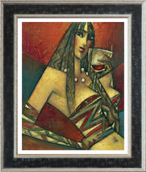 Pinot Noir (Large) - Framed
