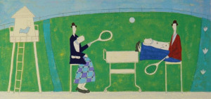Playing Tennis - Print only