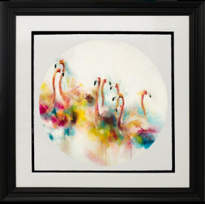 Plumage (Flamingos) (Small)  - Framed