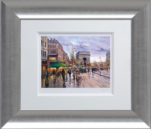 postcard from paris  - framed