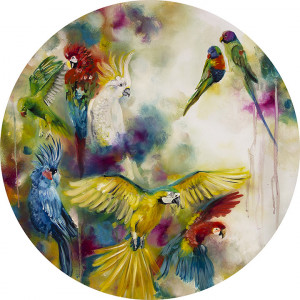 pretty polly - parrots & parakeets (large)  - mounted