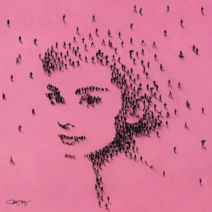 princess - audrey hepburn - box canvas