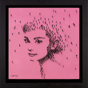 princess - audrey hepburn - framed box canvas