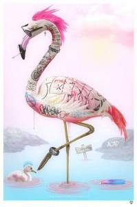 Punk Flamingos - Mounted
