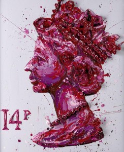 queen of roses - canvas  - framed