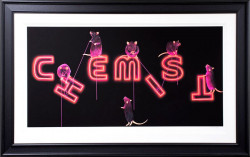 Rats Fixing The Chemist - Framed