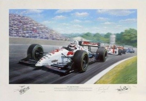 red 5, double world champion - nigel mansell - mounted