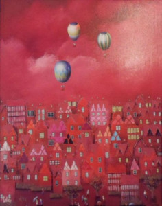 Red Skies - Canvas - Unstretched Canvas