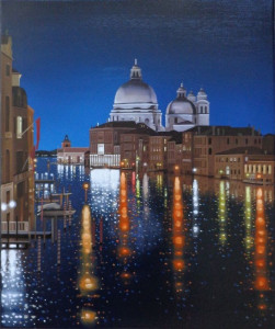 Reflections On The Grand Canal - Paper - Mounted