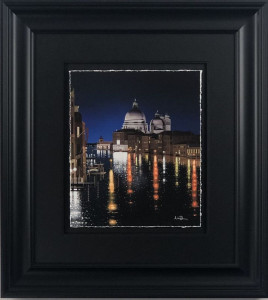 Reflections On The Grand Canal - Paper - Black - Framed