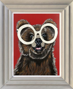 Rocket Bear - Original - Light Grey - Framed
