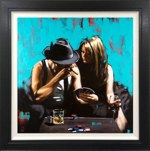 royal flush - canvas - framed