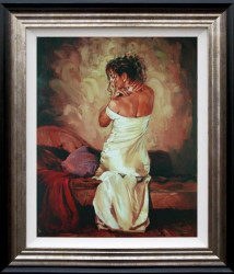 Satin And Pearls II - Framed