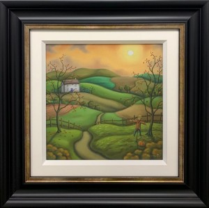 secrets of the seasons - autumn - original - framed